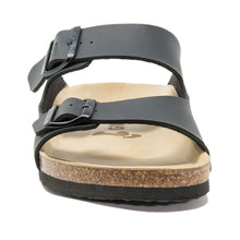 Load image into Gallery viewer, Men's arizona black leathertte sandals