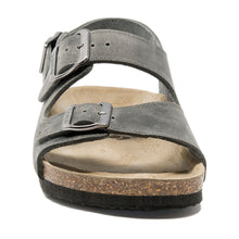 Load image into Gallery viewer, Mens Milano sandals dark grey leather classic