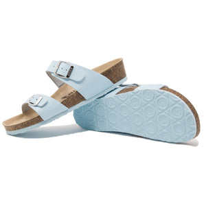 Edith Women's classic blue leather sandals