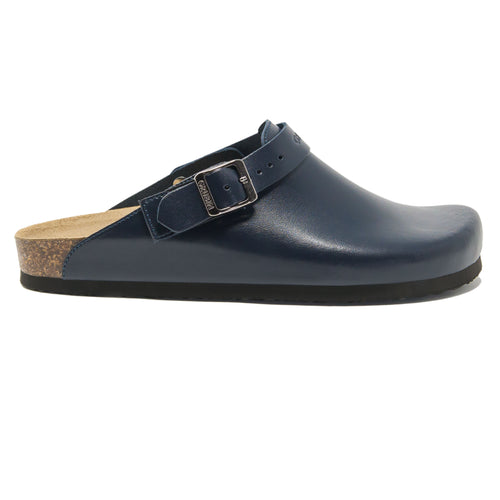 Men's clogs Stockholm Blue  leather