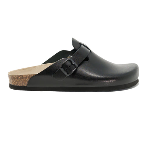 Men's clogs Rome black leather