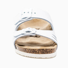 Load image into Gallery viewer, Women's Arizona white genuine leather sandals
