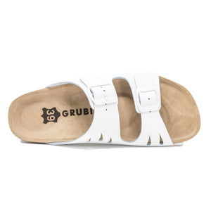 Women's Arizona white genuine leather sandals