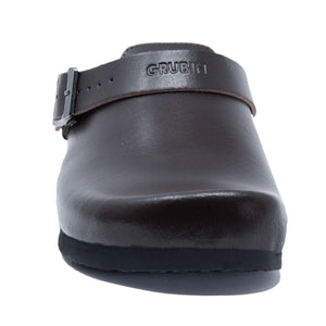 Stockholm Women clogs brown leather Soft - PREMIUM COMFORT