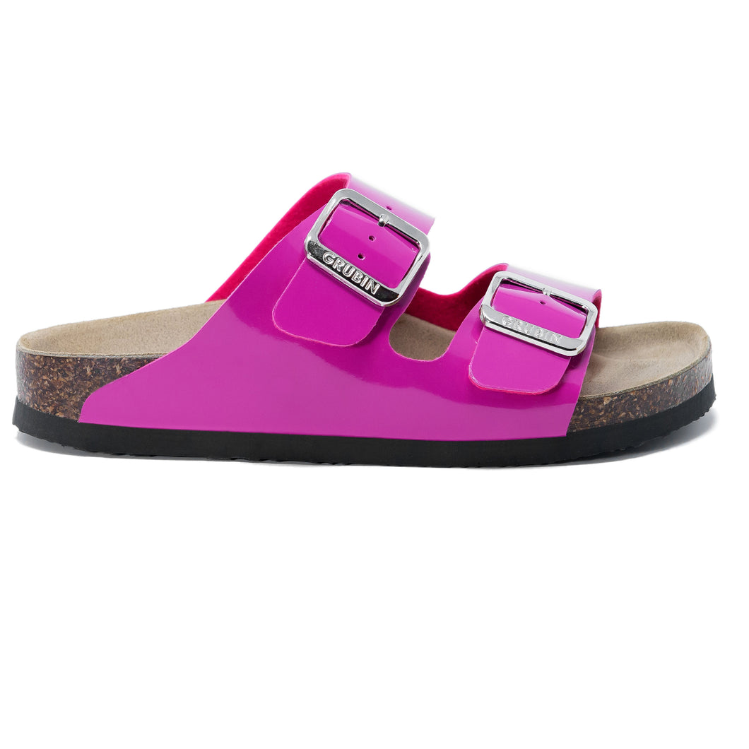 Women's Arizona Pink Glossy leatherette sandals