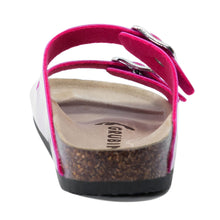 Load image into Gallery viewer, Women's Arizona Pink Glossy leatherette sandals