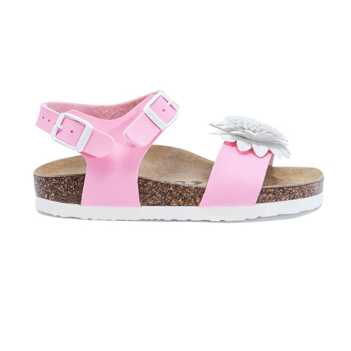 Dahlia girls sandals pink leatherette