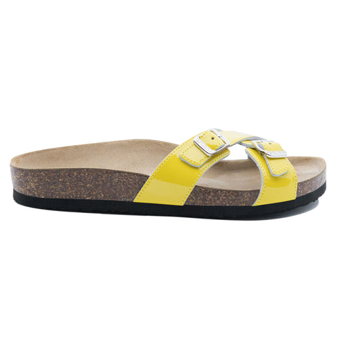 Women's Modena Yellow leather sandals