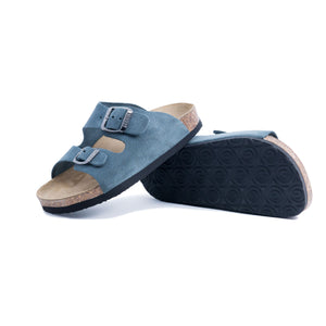 Girls Arizona Classic Suede Blue Sandals
