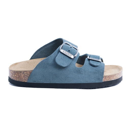 Arizona kids blue suede leather sandals