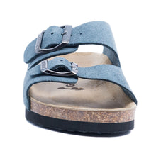 Load image into Gallery viewer, Girls Arizona Classic Suede Blue Sandals