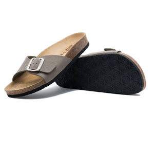 Women's Madrid Stone leatherette sandals