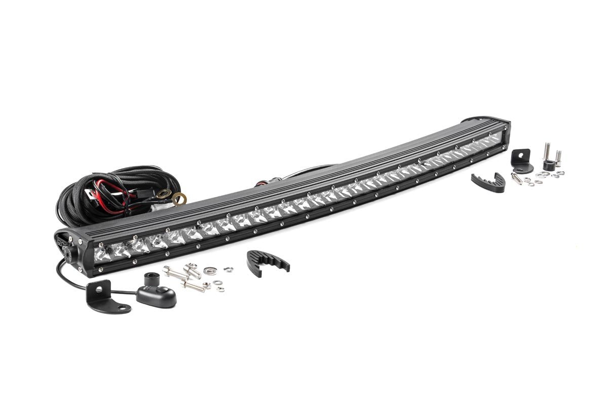 (SKU: 72730) 30-INCH CURVED CREE LED LIGHT BAR - (SINGLE ROW | CHROME SERIES)