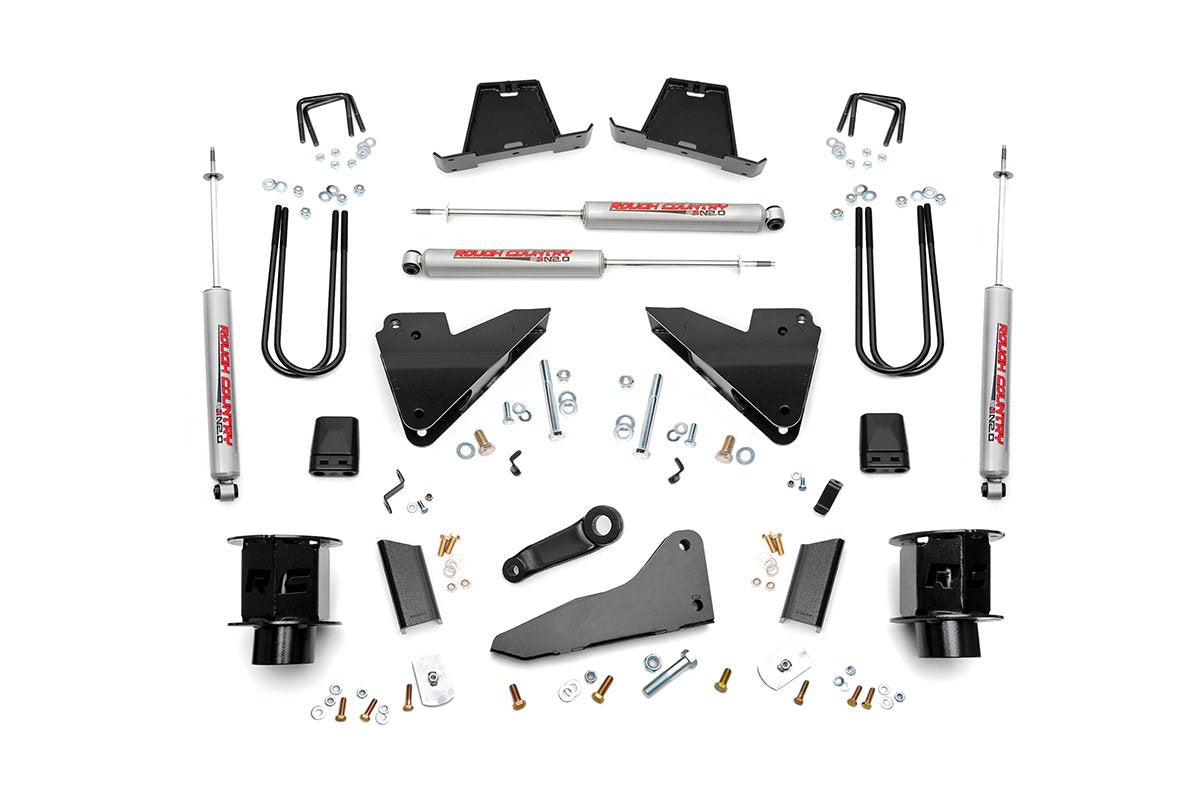 (SKU: 35620) 5IN DODGE SUSPENSION LIFT KIT | COIL SPACERS | RADIUS DROPS (13-15 RAM 3500 4WD)