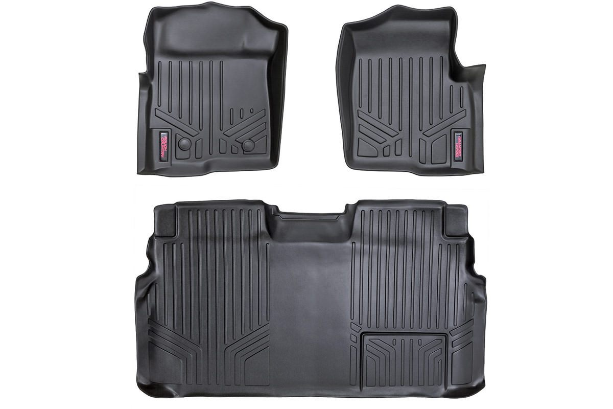 (SKU: M-51112) HEAVY DUTY FLOOR MATS [FRONT/REAR] - (11-14 FORD F-150 SUPERCREW CAB)