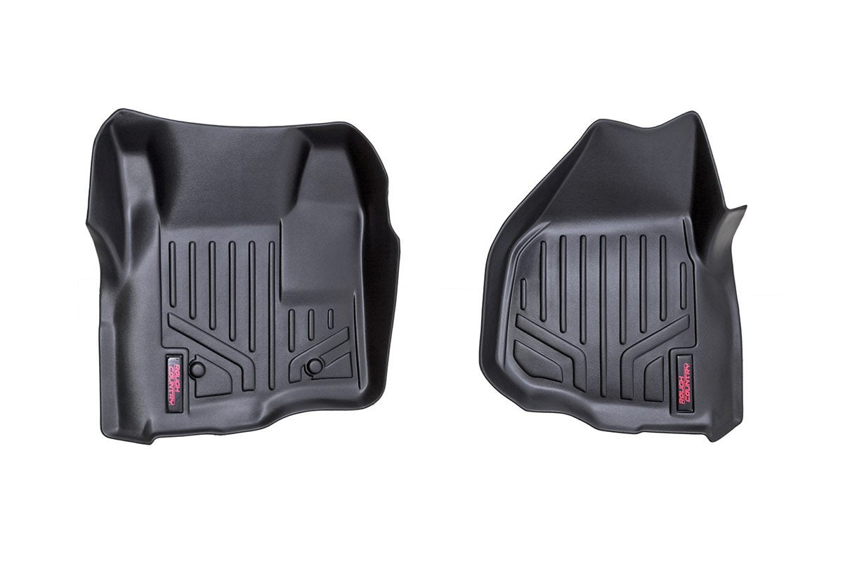 (SKU: M-5122) HEAVY DUTY FLOOR MATS [FRONT] - (11-16 FORD SUPER DUTY | DEPRESSED PEDAL)
