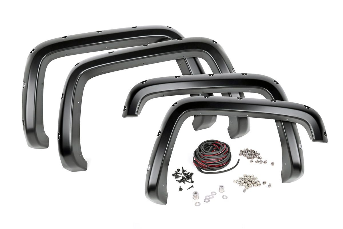 (SKU: F-C11412A) CHEVROLET POCKET FENDER FLARES | RIVETS (15-18 2500/3500HD)