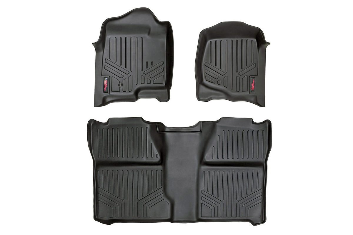 (SKU: M-29913) HEAVY DUTY FLOOR MATS [FRONT/REAR] - (99-06 CHEVY SILVERADO / GMC SIERRA)