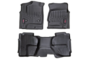 (SKU: M-21412) HEAVY DUTY FLOOR MATS [FRONT/REAR] - (14-18 CHEVY SILVERADO / GMC SIERRA)