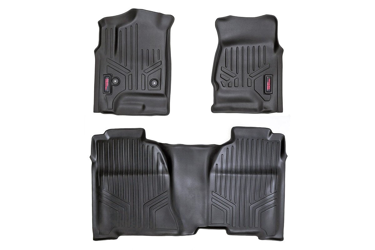 (SKU: M-21413) HEAVY DUTY FLOOR MATS [FRONT/REAR] - (14-18 CHEVY SILVERADO / GMC SIERRA)