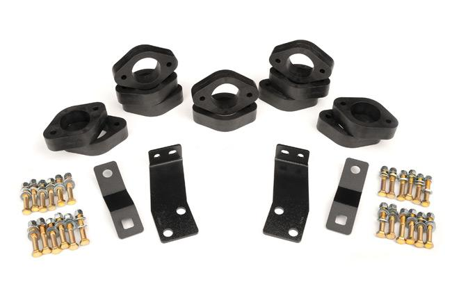 (SKU: RC602) 1.25IN JEEP BODY LIFT KIT (07-18 JK WRANGLER 2-DOOR/AUTO TRANS)