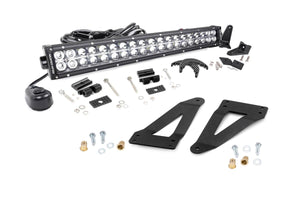 20-inch Chrome Series Dual Row CREE LED Light Bar & Grille Mounts Kit (Wrangler JK / JKU)