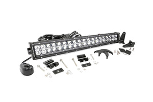 (SKU: 70920) 20-INCH CREE LED LIGHT BAR - (DUAL ROW | CHROME SERIES)