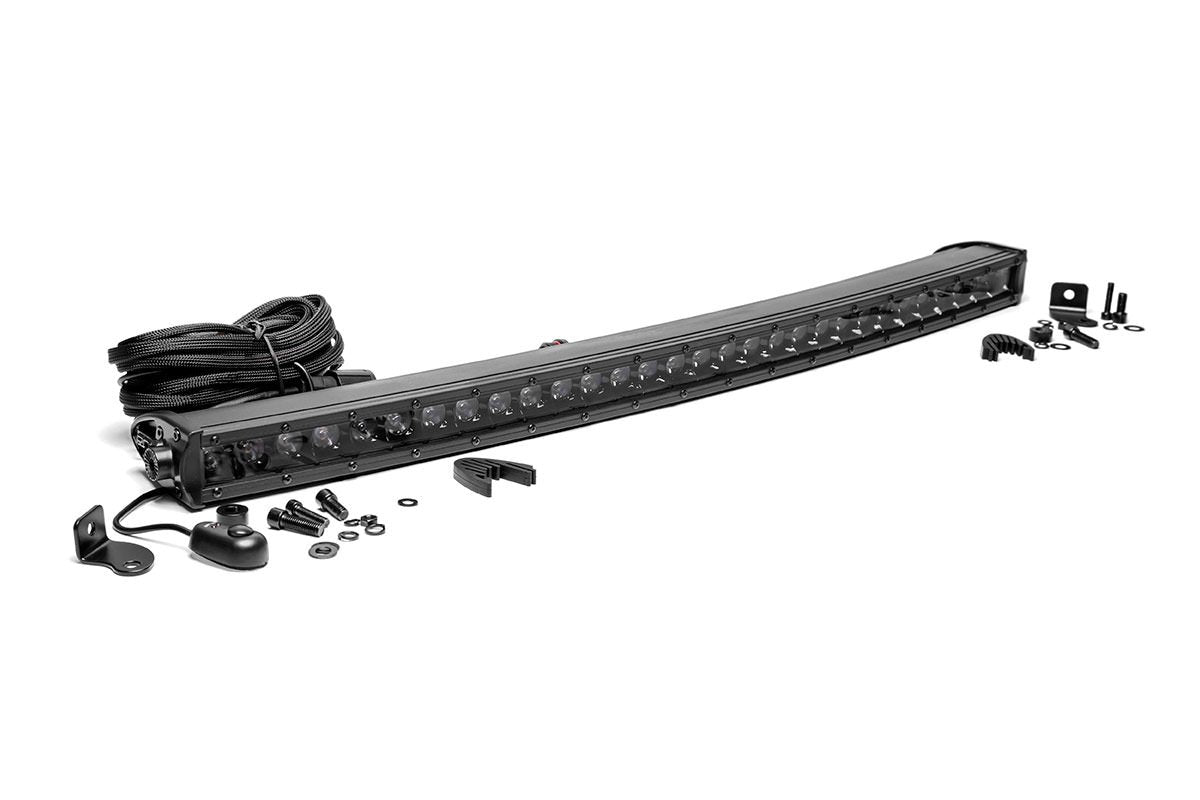 (SKU: 72730BL) 30-INCH CURVED CREE LED LIGHT BAR - (SINGLE ROW | BLACK SERIES)