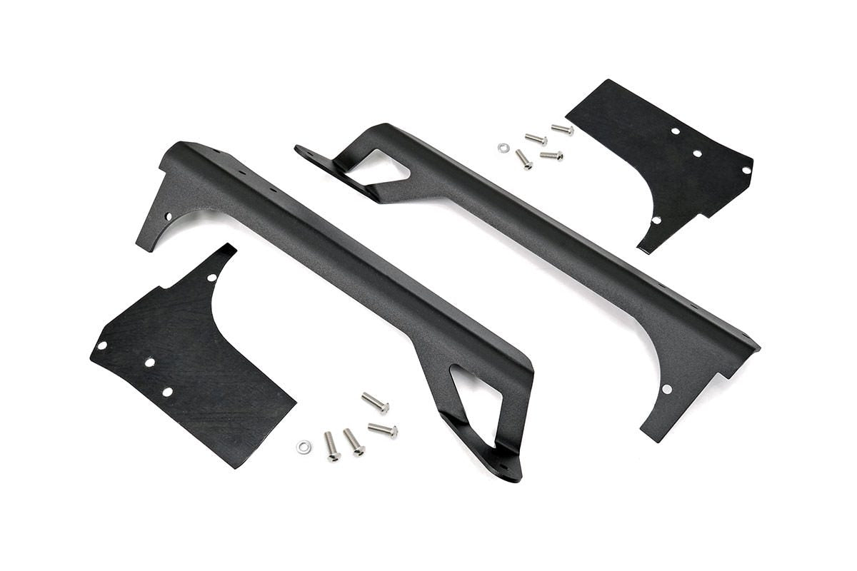 (SKU:70503) JEEP 50-INCH STRAIGHT LED LIGHT BAR UPPER WINDSHIELD MOUNTS (97-06 TJ)