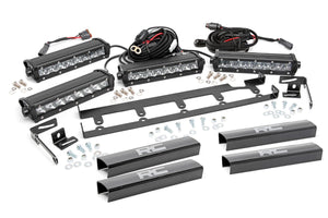 8-inch Chrome Series Vertical LED Light Bar Grille Kit (4 Lights)