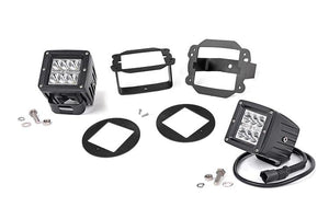 (SKU: 70529) JEEP 2-INCH CREE LED FOG LIGHT KIT (CHROME SERIES | 07-09 WRANGLER JK)