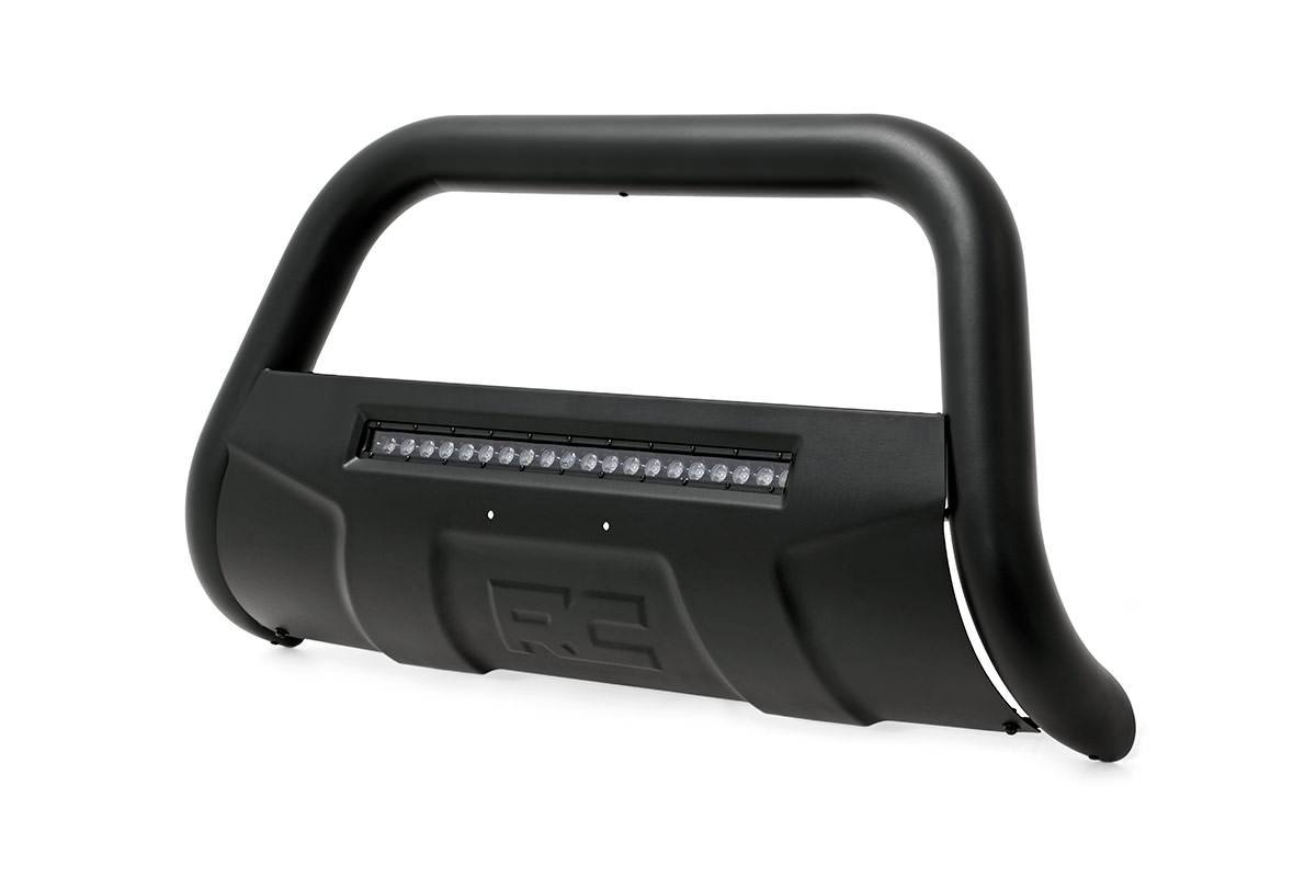 (SKU: B-N4041) NISSAN 04-15 TITAN BULL BAR W/LED LIGHT BAR (BLACK)