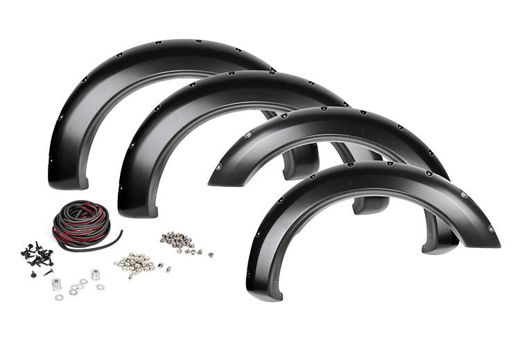(SKU: F-D21011) DODGE POCKET FENDER FLARES | RIVETS (10-18 RAM 2500/3500)