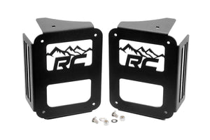 (SKU: 1078) JEEP TAIL LIGHT COVERS | MOUNTAINS (07-18 WRANGLER JK)