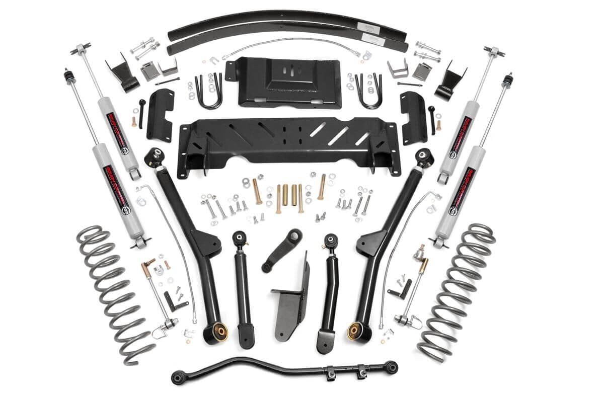 (SKU: 61422) 4.5IN JEEP LONG ARM SUSPENSION LIFT KIT (84-01 XJ CHEROKEE)