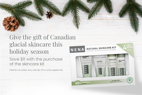 shop nena natural skincare kit chemical-free facial skincare gift set