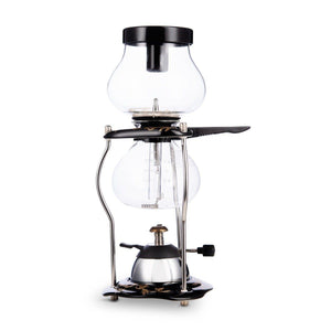 Yama Glass 5 Cup Tabletop Coffee Siphon w/Ceramic Base and Butane Burner (20oz)