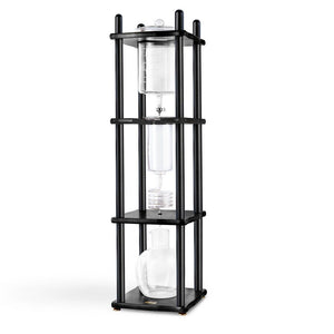 25 Cup Cold Drip Maker Straight Black Wood Frame