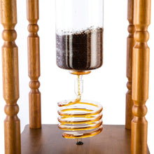 Load image into Gallery viewer, Yama Glass 25 Cup Cold Drip Maker Curved Brown Wood Frame