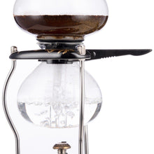 Load image into Gallery viewer, Yama Glass 5 Cup Tabletop Coffee Siphon w/Ceramic Base and Butane Burner (20oz)