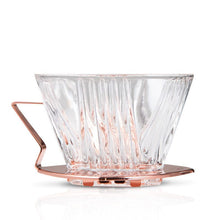 Load image into Gallery viewer, Yama Glass Dripper 2-4 Cup (6-12oz) with Copper Handle