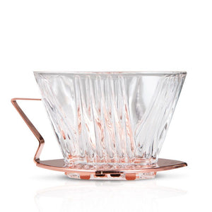 Yama Glass Dripper 2-4 Cup (6-12oz) with Copper Handle