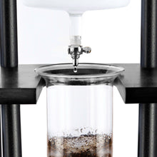 Load image into Gallery viewer, 25 Cup Cold Drip Maker Straight Black Wood Frame