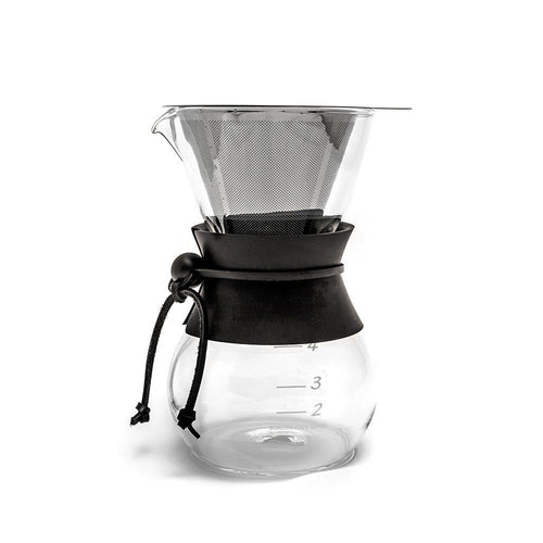 Yama Coffee Drip Pot with Stainless Cone Filter - 20oz
