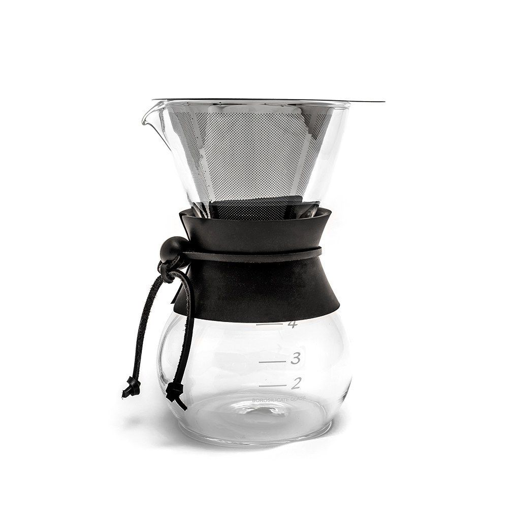 Yama Coffee Drip Pot with Stainless Cone Filter - (30oz)
