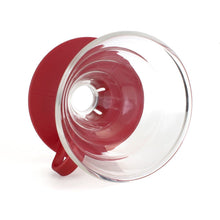 Load image into Gallery viewer, Yama Glass Cone Dripper 2-4 Cup (Red Base)