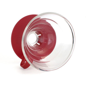 Yama Glass Cone Dripper 2-4 Cup (Red Base)