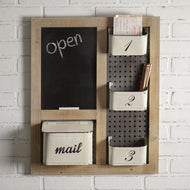 Mail Organizer and Chalkboard