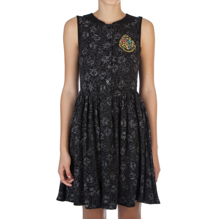 Bioworld Harry Potter Hogwarts Crest Collar Dress