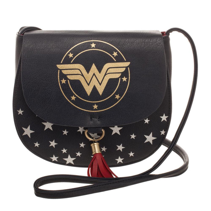 DC Comics Wonder Woman Saddlebag with Tassle Handbag